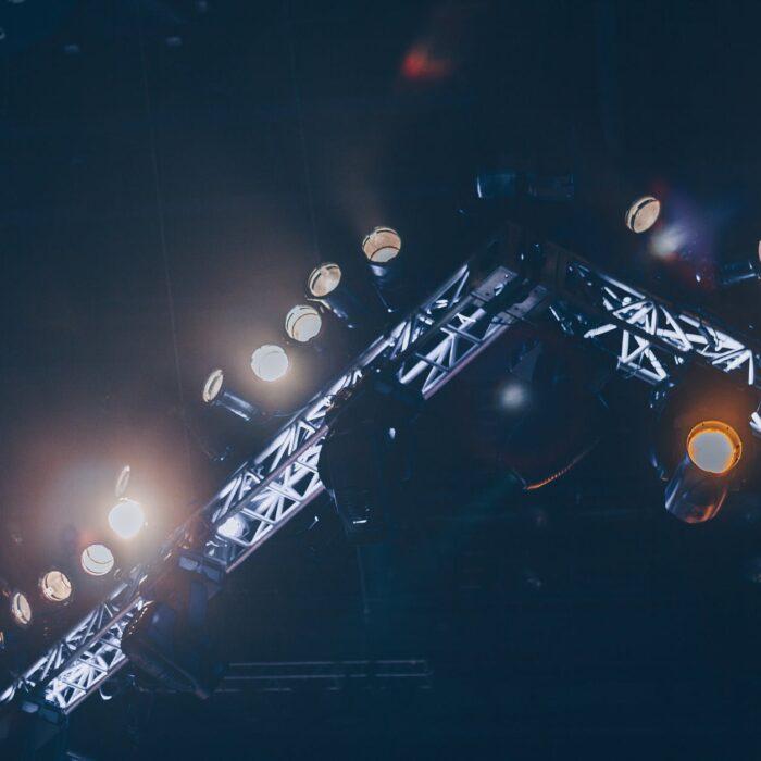 turned on stage lights